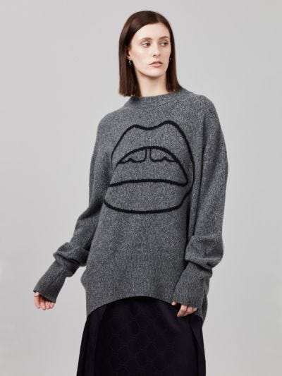 Melange Iconic Lip Oversized Erin Jumper