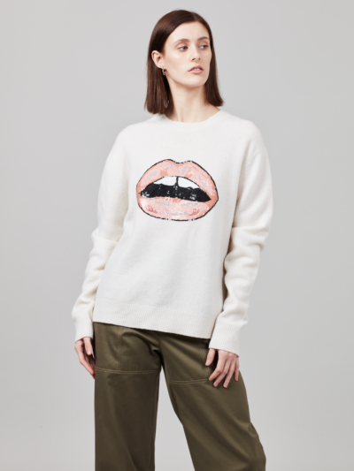 Sequin Graphic Lip Jamie Jumper