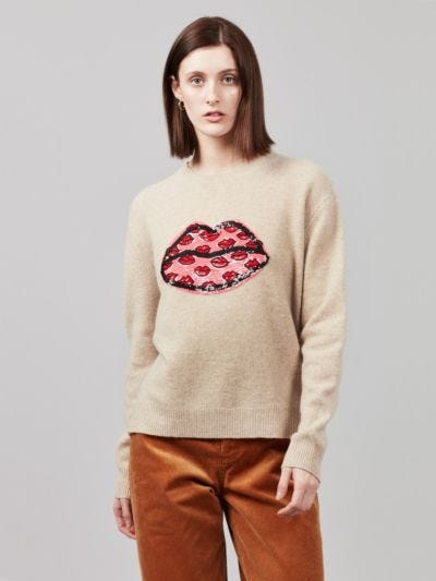 Sequin Painters Lip Jamie Jumper