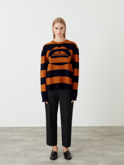 Intarsia Stripe Lip Dani Jumper