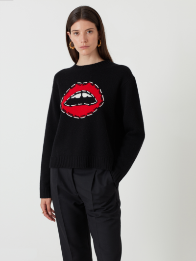 Embroidered Lip Drew Jumper