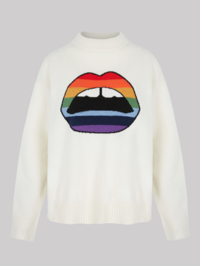 Intarsia Rainbow Lip Ellie Jumper