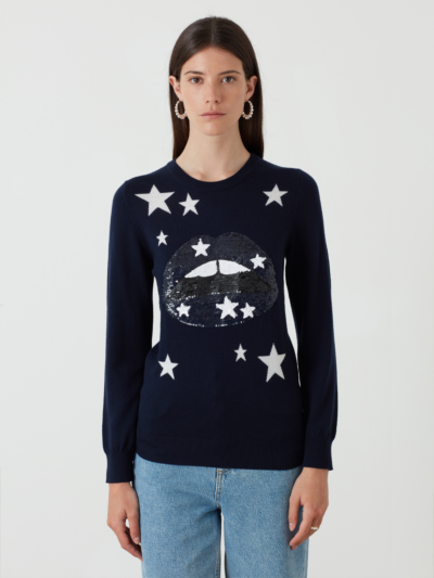 Sequin Starry Lip Emma Jumper