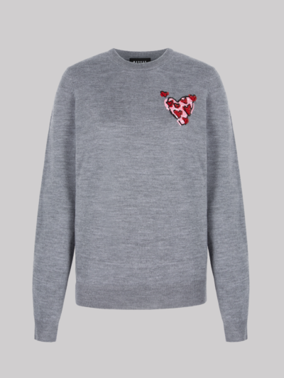 Sequin Heart Mia Jumper