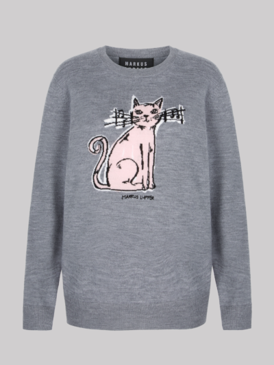 Intarsia Composer Cat Natalie Jumper
