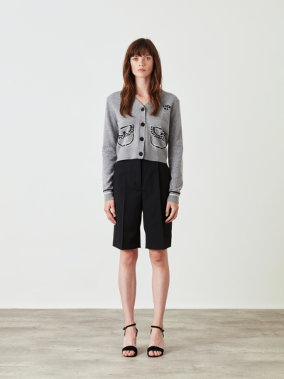 Sequin Trompe L'oeil Pocket Hannah Cardigan