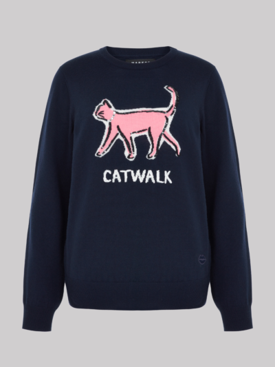 Intarsia Sequin Cat Walk Mia Jumper
