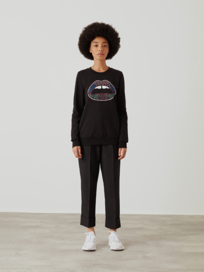 Embroidered Lip Anna Sweatshirt