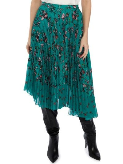 Maddie Cherub Garden Pleated Skirt