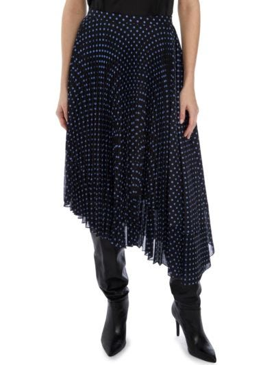 Maddie Polka Dot Pleated Skirt