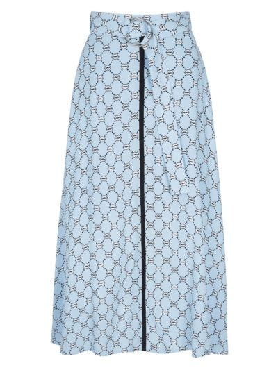 Alexis Iconic Lip Belted Skirt
