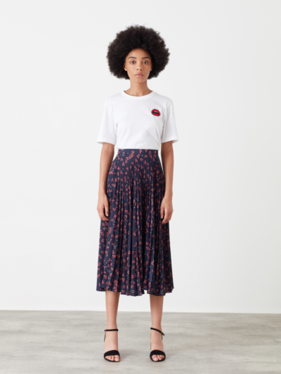Hailey Star Flower Pleated Skirt
