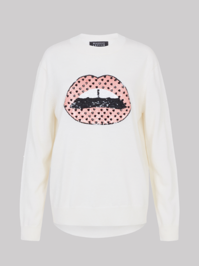 Sequin Heart Embellishment Lip Jamie Jumper
