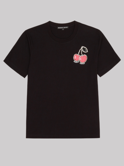 Sequin Jewel Cherry Anna Tee