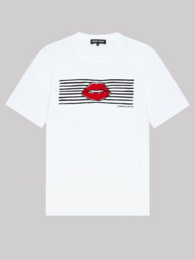 Sequin Lip And Stripes Alex Tee