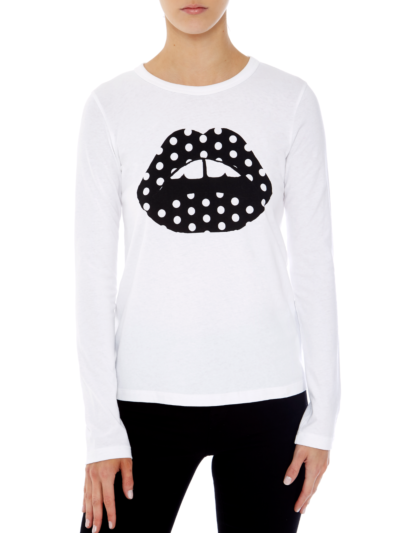 Sophie Polka Dot Lip Relaxed-Fit Top