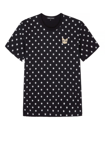 Anna Coco Cat Star Print Relaxed-Fit Tee