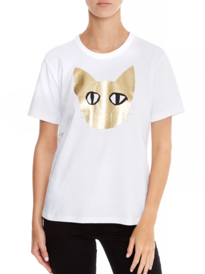 Anna Metallic Coco Cat Relaxed-Fit Tee