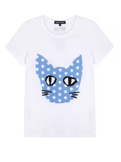 Kelly Polka Dot Coco Cat Slim-Fit Tee