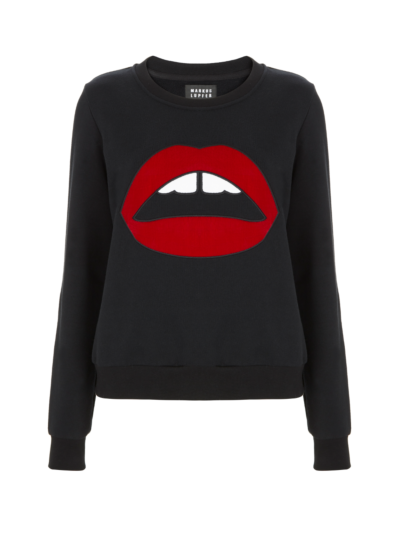 Leonie Velvet Lara Lip Relaxed-Fit Sweatshirt