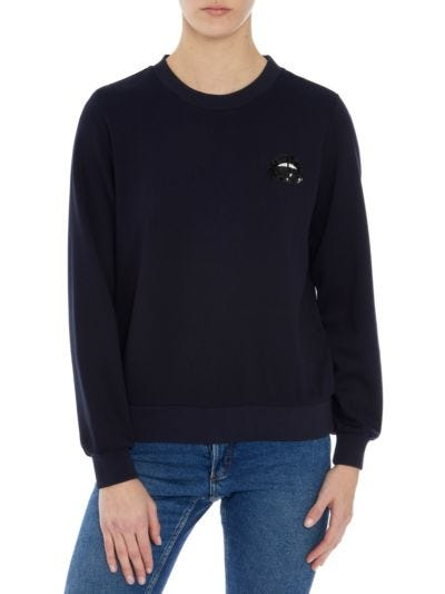 Leonie Compact Jersey Relaxed-Fit Sweatshirt