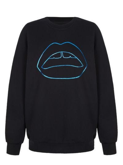 Anna Foil Lip Relaxed-Fit Sweatshirt