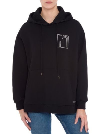 Naomi Graphic Star Cat Relaxed-Fit Hoodie