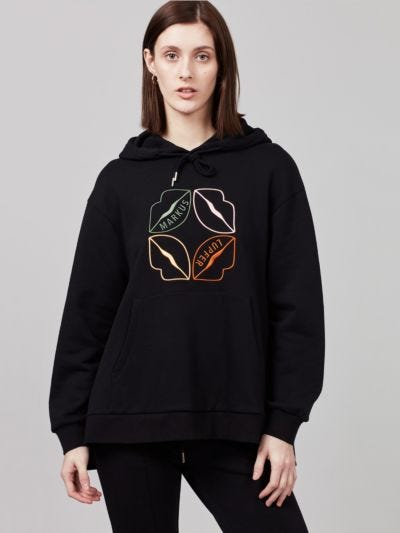 Embroidered Lip Naomi Hoodie