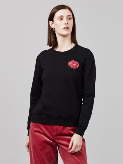 Jewel Lip Patch Leonie Sweatshirt