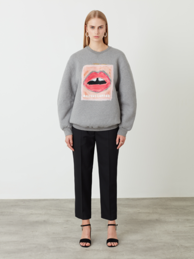 Painted Lip Jade Sweatshirt