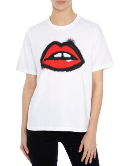 Alex Spray Paint Lip Relaxed-Fit Tee