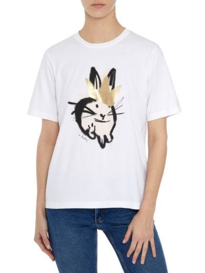 Alex Bunny Foil Crown Relaxed-Fit Tee