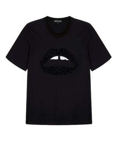 Alex Flock Leopard Lip Relaxed-Fit Tee