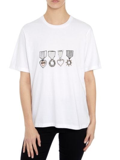 Alex Sequin Medal Relaxed-Fit Tee