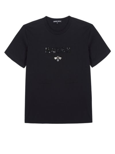 Anna Sequin Queen Bee Relaxed-Fit Tee