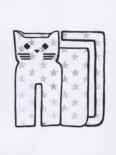 Alex Graphic Star Cat Relaxed-Fit Tee