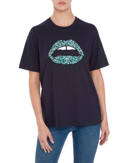 Alex Space-Dye Lip Relaxed-Fit  Tee