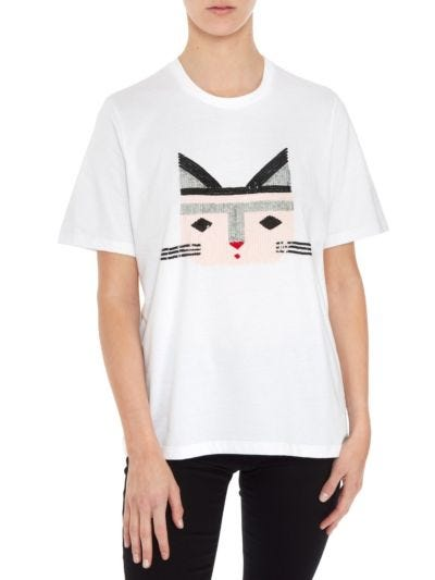 Alex Cat Face Relaxed-Fit Tee