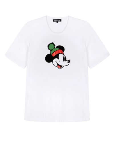 Alex Disney Mickey Mouse Foil Relaxed-Fit Tee
