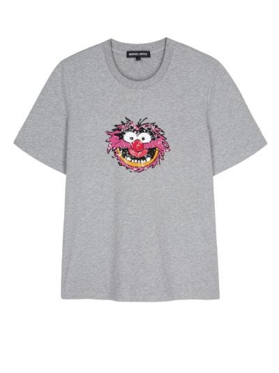 Alex Disney Animal Sequin Relaxed-Fit Tee