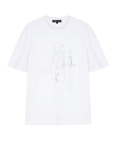Erin Disney Donald Duck Foil Oversized Tee
