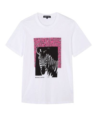 Alex Zebra Geo Collage Relaxed-Fit Tee