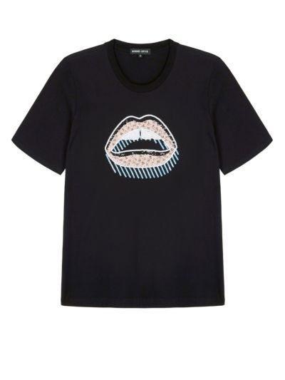Alex Sequin 3D Lara Lip Relaxed-Fit Tee