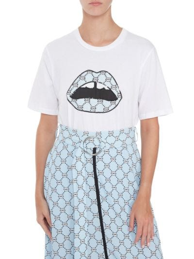 Alex Sequin Iconic Lip Relaxed-Fit Tee