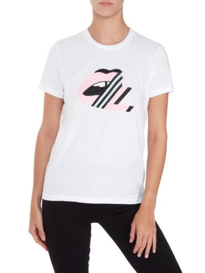 Kate Sequin ML Lip Slim-Fit Tee