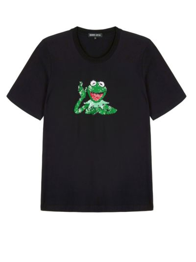 Alex Disney Kermit Sequin Relaxed-Fit Tee