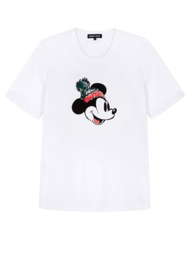 Alex Disney Sequin Mickey Mouse Relaxed-Fit Tee