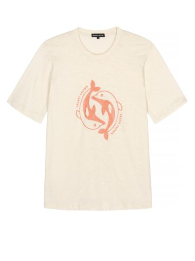 Alex Printed Organic Cotton Dolphin Tee