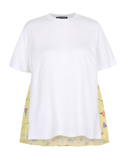 Serena Floaty Floral Jersey Combo Tee