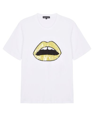 Alex Sequin Lara Lip Relaxed-Fit Tee